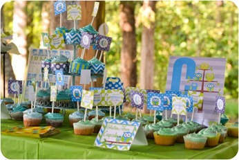 1st birthday party boy owl theme