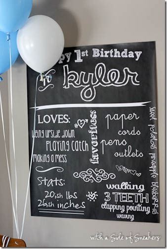 happy 1st birthday chalkboard