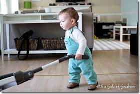 baby vacuuming