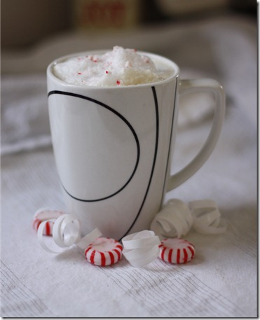 peppermint latte with homemade peppermint syrup recipe