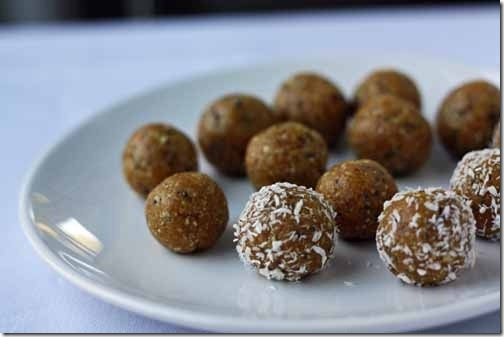 apricot cashew protein balls