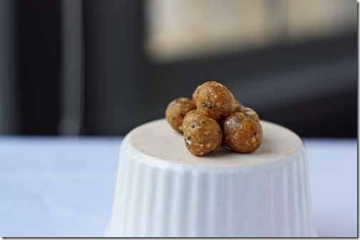 after workout mini protein balls