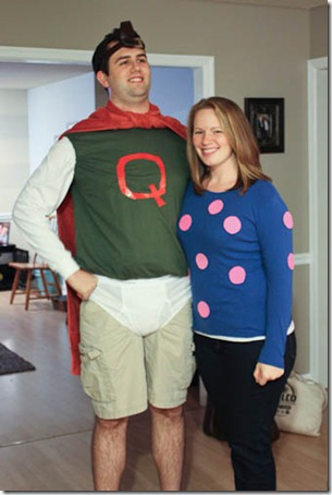 Easy Adult Halloween Costumes Quailman And Patty Mayonnaise Costume