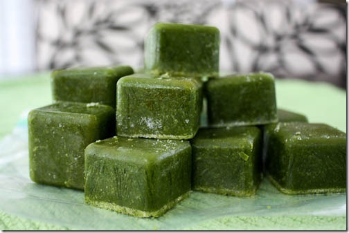 green monsters premade smoothie cubes with spinach