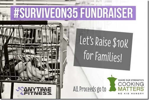 survive on 35 fundraiser cooking matters